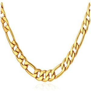 18K Gold Plated Figaro Light Weight Chain